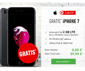 iPhone 7 gratis - im Vodafone Tarif Smart L EU